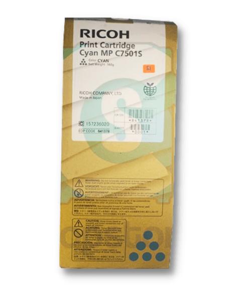 Original Ricoh Cyan Toner Cartridge MPC6501SP MPC7501SP